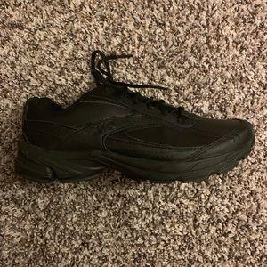Black leather Ryka memory foam shoes